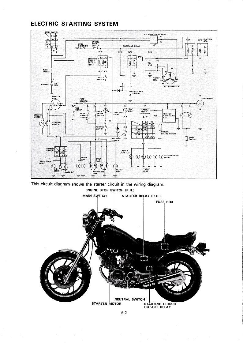 1983 yamaha maxim 750 wiring diagram vx 6678  1981 1983 xv920 starting wiring diagram free diagram  1981 1983 xv920 starting wiring diagram