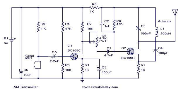 Pleasing Diy Am Transmitter Circuit Diagram Components Description Wiring Cloud Hemtegremohammedshrineorg