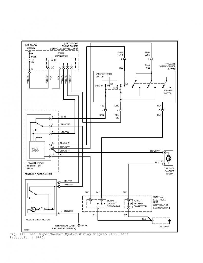 1996 volvo 850 wiring diagram mw 0236  volvo 850 headlight headlamp wiper washer installation  volvo 850 headlight headlamp wiper