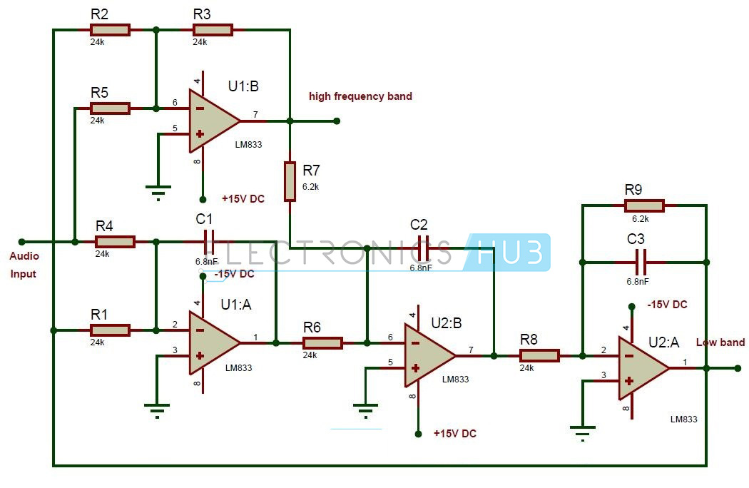 Awesome Active Audio Crossover Circuit Electronic Filter Circuits Wiring Cloud Licukaidewilluminateatxorg