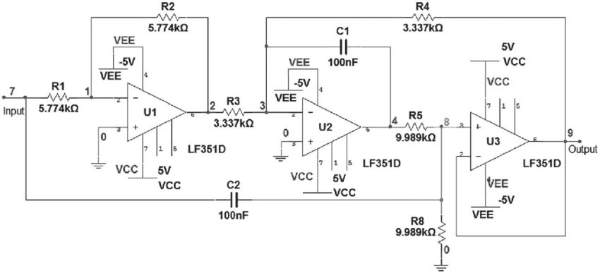 Fine Notch Filter Circuit As An Example Download Scientific Diagram Wiring Cloud Onicaxeromohammedshrineorg