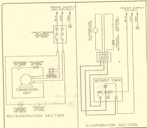 walk in refrigerator wiring diagram  fiat x1 9 wiring
