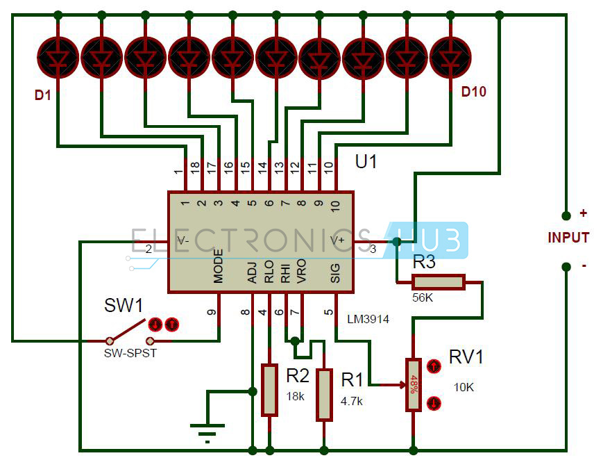 Pleasing Battery Level Indicator Circuit Using Lm3914 Wiring Cloud Apomsimijknierdonabenoleattemohammedshrineorg