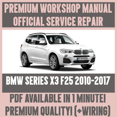 Peachy Workshop Manual Service Repair Guide For Bmw X3 F25 2010 2017 Wiring Cloud Overrenstrafr09Org