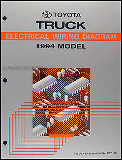 Phenomenal 1994 Toyota Pickup Truck Wiring Diagram Manual Original Wiring Cloud Waroletkolfr09Org