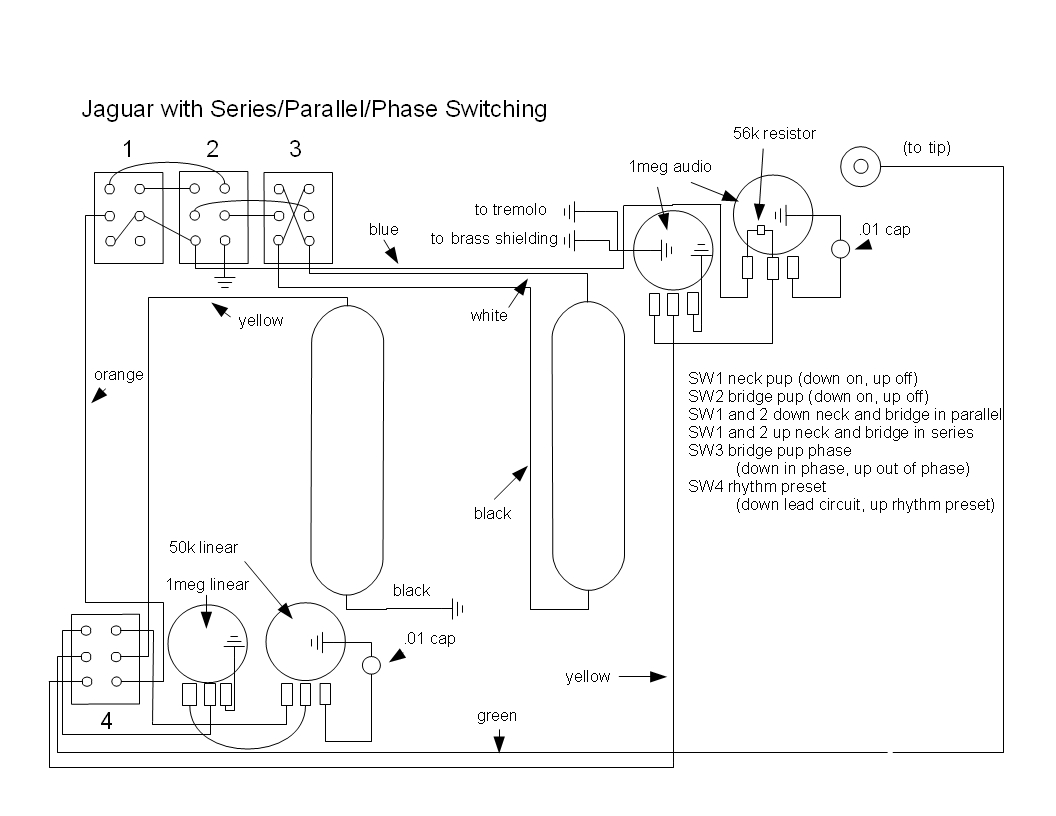 Wondrous Music Wrench Fender Jaguar Rewiring With Series Parallel And Phase Wiring Cloud Dulfrecoveryedborg
