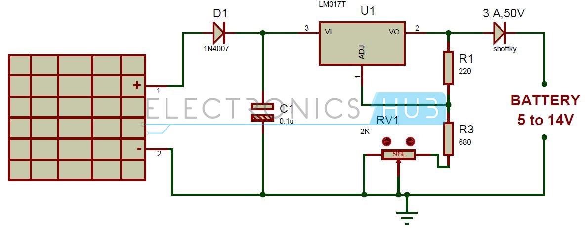 Swell Solar Battery Charger Circuit Using Lm317 Voltage Regulator Wiring Cloud Licukosporaidewilluminateatxorg