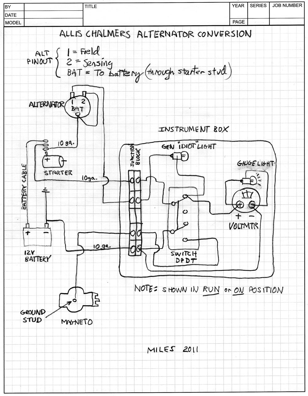 Allis Chalmers Model B Wiring Diagram