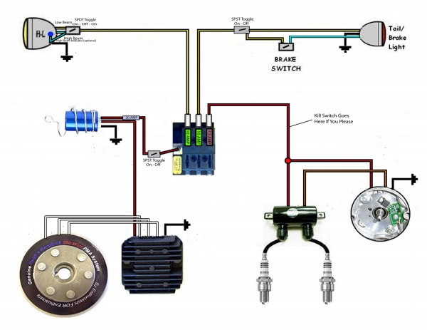 basic xs650 headlight wiring diagram yt 1299  basic wiring diagram 79 with pamco ignition xs650 forum  wiring diagram 79 with pamco ignition