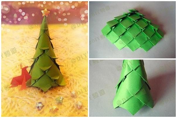 Origami Christmas Tree Easy - Christmas   404x604