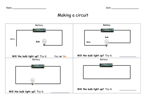 Super Electricity Worksheet Year 2 By Gron Teaching Resources Wiring Cloud Timewinrebemohammedshrineorg