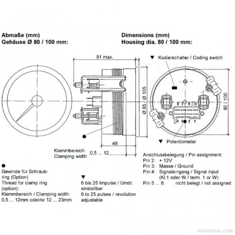 Zl 3602 4 In 1 Tachometer Wiring Wiring Diagram