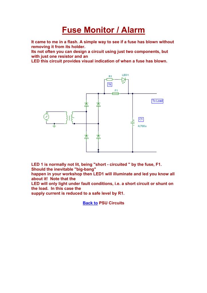 Awesome 8 Fuse Monitor Indicator Manualzz Com Wiring Cloud Gufailluminateatxorg