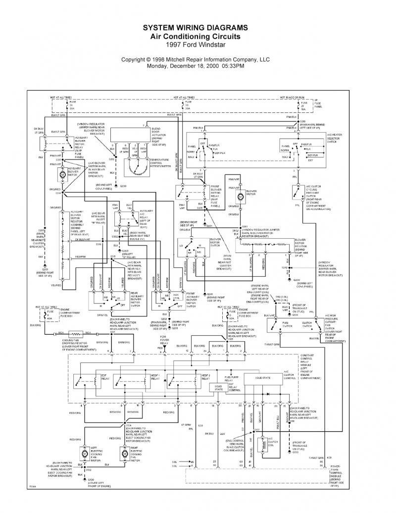 1999 Ford Windstar Wiring Schematic Wiring Diagram Wiper B Wiper B Bujinkan It