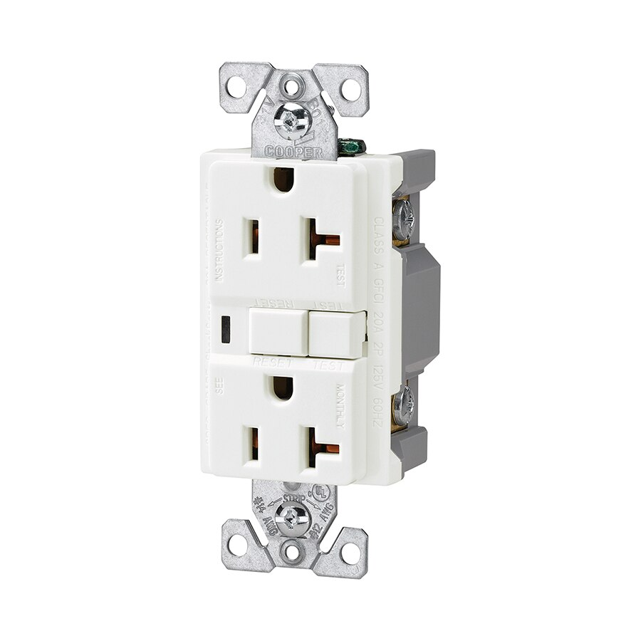 Fantastic Cooper Wiring Devices White 20 Amp Decorator Commercial At Lowes Com Wiring Cloud Gufailluminateatxorg