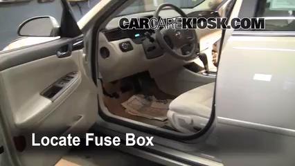 Fantastic Interior Fuse Box Location 2006 2016 Chevrolet Impala 2008 Wiring Cloud Intelaidewilluminateatxorg