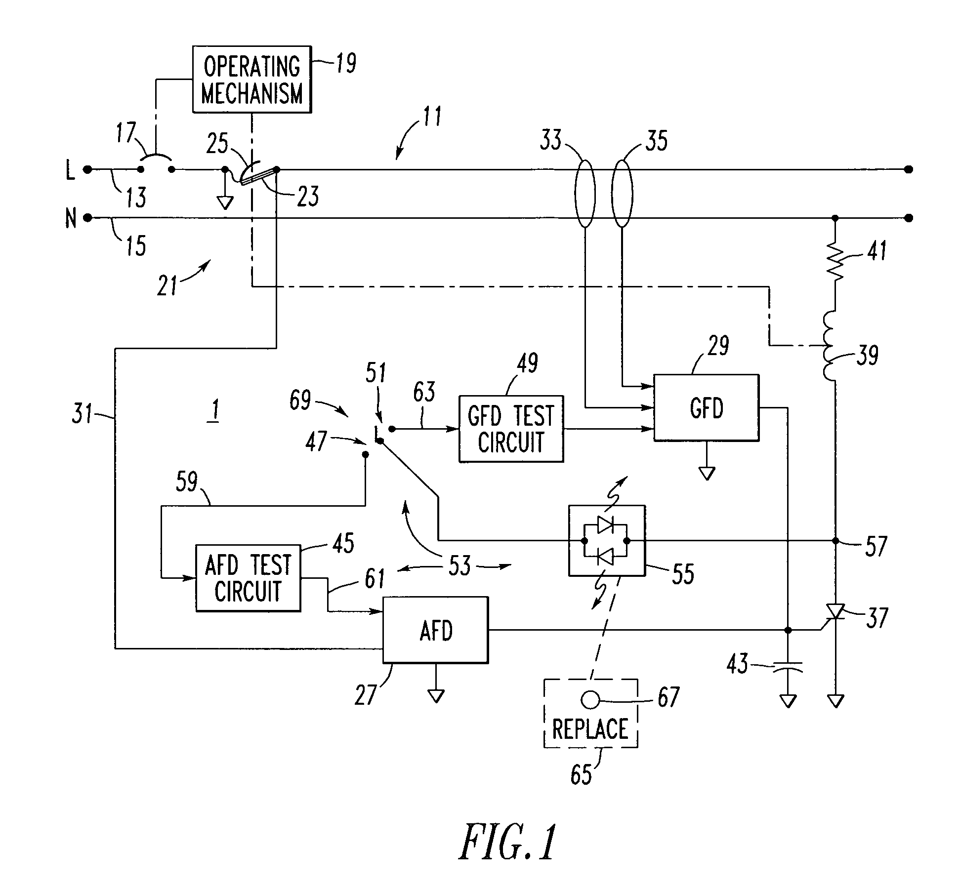 Wv 3682  Patent Us8599523 Arc Fault Circuit Interrupter