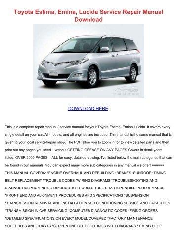 Toyota Estima Ecu Wiring Diagram