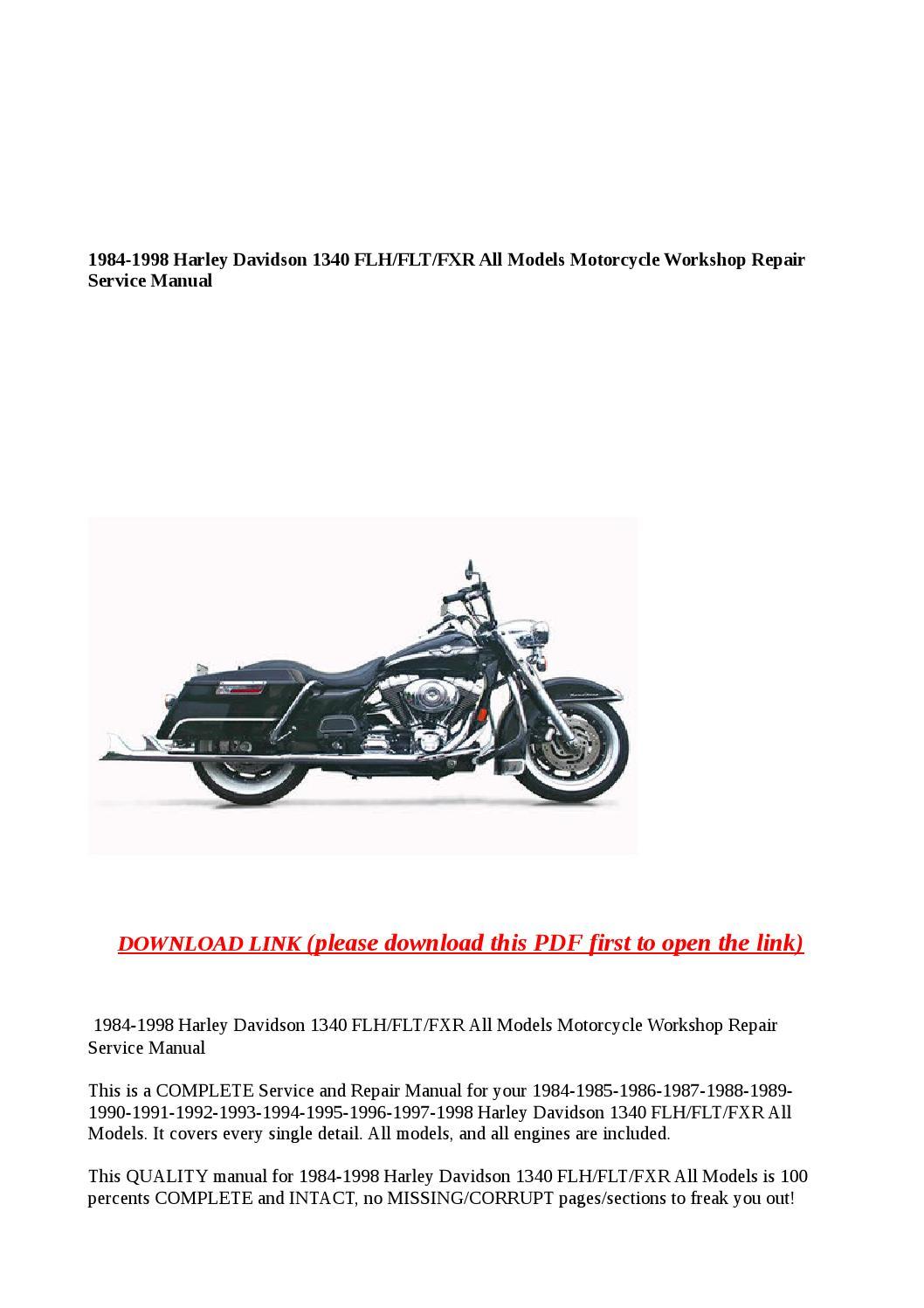 Harley Flht Wiring Diagram
