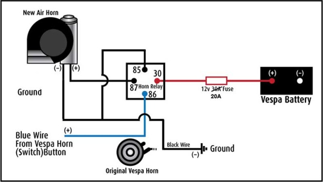 Lb 3763  Loud Horns Dual Horn Relay Diagram On Horn Relay