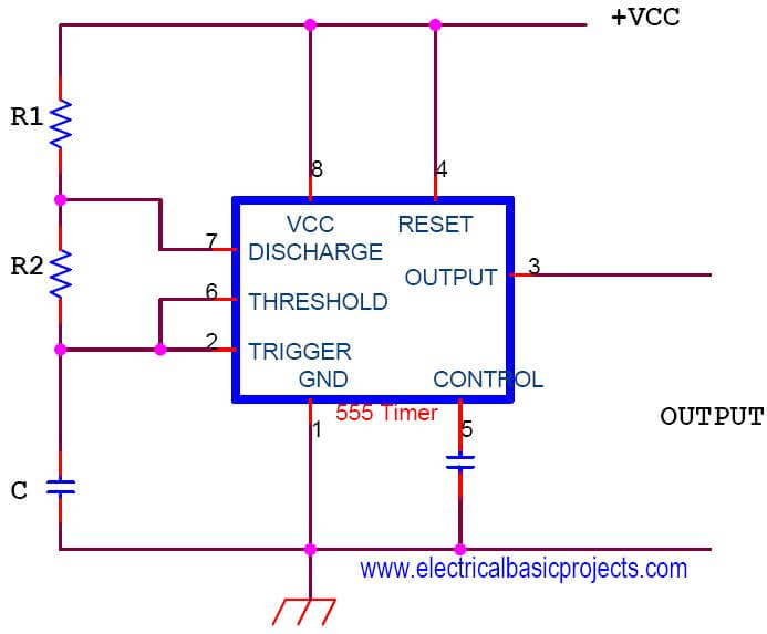 Groovy Simple 555 Timer Projects Variable Pulse Generator Circuit Design Wiring Cloud Faunaidewilluminateatxorg