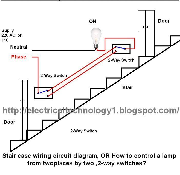 Superb Staircase Wiring Circuit Diagram How To Control A Lamp From 2 Wiring Cloud Biosomenaidewilluminateatxorg