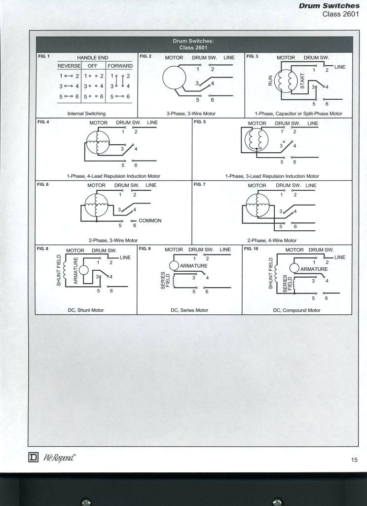 Wiring Diagram Single Phase Motor 6 Lead