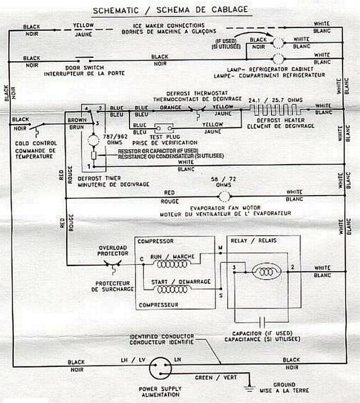 ge refrigerator ice maker wiring diagram zapper electric