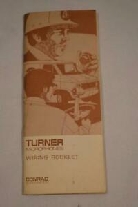Tremendous Vintage Turner Microphones Wiring Booklet Ebay Wiring Cloud Gufailluminateatxorg